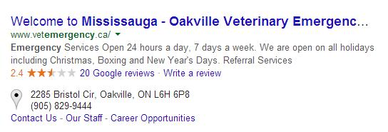 Oakville Veterinarian Reviews
